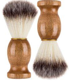 Superbe Salon De Coiffure Rasage Brosse Poignée Blaireau Visage Hommes De Nettoyage De Barbe Rasage Rasoir Brosse De Nettoyage Des Outils D'appareils