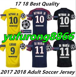 2017 2018 Home Away Third Goalkeeper Soccer Jerseys Neymar Mbappe Cavani  Futbol Camisetas Football Germain Shirt Saint Kit Paris Maillot 8baaea7ce