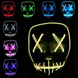 rave party supplies Australia - New Night Party Cosplay Lighting Grimace Mask LED Light Flashing Skull Mask Skeleton Halloween Rave Party Favor Cosplay Supplies