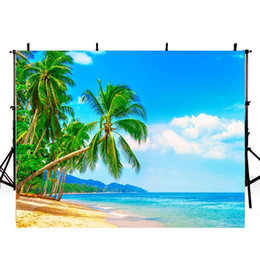 children beach paintings Australia - Beach Photography Backdrops Hawaii Luau Party Backdrop For Photography Ocean Background For Photo Studio Trees Photocall Boda