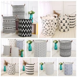 Genial 2018 Canvas Storage Bins Ins Storage Baskets Bins Kids Room Toys Storage  Bags Bucket Clothing Organization