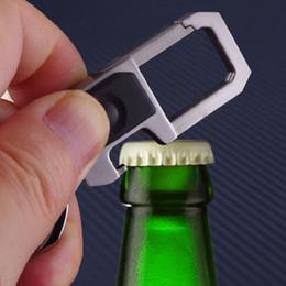 $enCountryForm.capitalKeyWord NZ - Portable Bottle Opener LED Keychain Double Rings Key Chain With Bottle Opener Waist Key Ring With Light Motorcycle Keychain