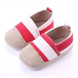 $enCountryForm.capitalKeyWord Australia - Striped Baby Shoes Newborn First Walkers Toddler Sneakers Soft Sole Non-Slip Crib Baby Boy Girl Cute Shoes 0-18M Wholesale