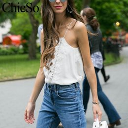 420b79509df28 MissyChilli Casual lace up cami top women Reversible cami lace top Sexy  satin adjustable spaghetti strap camisole tanktop female