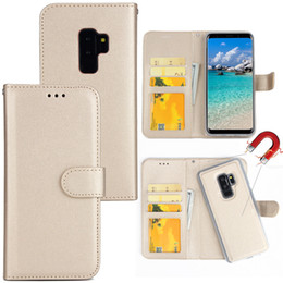 2 em 1 Carteira de couro destacável Flip Case Para novo iPhone 11 X XR XS Max Magnetic Cover Case Para iPhone 8 7 Plus Samsung S9 S10 Plus Note 10 em Promoção