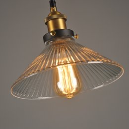 $enCountryForm.capitalKeyWord NZ - Vintage Pendant Lights Glass pendant lamps American country Industrial hanging lamp Restaurant bar living room lighting fixture
