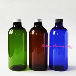 1000ml PET Bottle 35oz large plastic bottles for liquid lotion Essencial Oil Ocean Fresh Water Cosmetics pharma Hydrosols bottle green blue on Sale