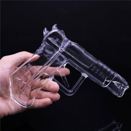 $enCountryForm.capitalKeyWord NZ - Portable Glass Smokig Pipe Clear Glass Gun Shaped Water Pipes Hookah Pipes Glass Bong Dab Oil Rigs Free Shipping
