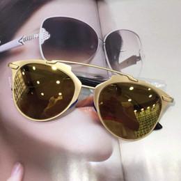 c710530c5 Mirror Gold Frame Sunglasses Women Fashion New Arrival Brand Designer  Sunglass Sun Shading Classical Lady Cool Multicolor Eyeglass 16jy aa