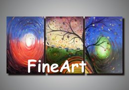 Cheap Paintings Sets Australia - handmade painting canvas sets contemporary tree oil painting cheap modern art paintings discount wall decoration quotes decoration home
