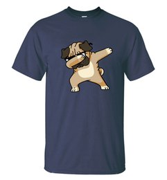$enCountryForm.capitalKeyWord NZ - HAMPSON LANQE Dabbing Pug Animal T Shirts 2018 Summer Cartoon Dog Men's T-Shirt 100% Cotton Short Sleeve Black White Gray Tshirt