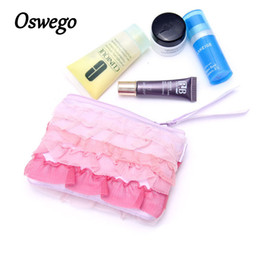 Cosmetic Accessories Wholesale NZ - Oswego Women Makeup Bag Polyester Japan Style Cosmetic Suitcase Protable Multi-function Travel Coin Candy Makeup Accessories Bag