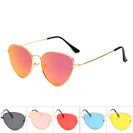 475d1570326c New Pattern Metal Sunglasses Europe And America Personality Cat Eye Glasses  Simple Style Trend Eyewear Hot Sale 6 5am WW