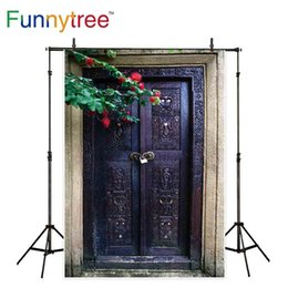 $enCountryForm.capitalKeyWord Canada - Funnytree backgrounds for photography studio old wood door with vintage pattern decor flower professional backdrop photocall