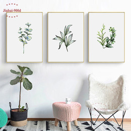 Art Canvas Prints Australia - 900D Posters And Prints Wall Art Canvas Painting Green Palm Wall Pictures For Living Room Poster Nordic Cuadros Decoracion NOR93