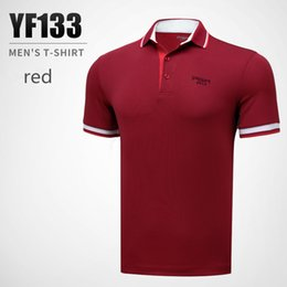 $enCountryForm.capitalKeyWord Australia - PGM Golf Men Sportswear Breathable Moisture Wicking Quick-drying Short-sleeved Golf T-shirt Summer High elastic polo shirts