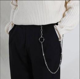 3682db256 Moda Punk Hip-hop Cinturón Cinturón de Moda Cadena Pantalones Masculinos  Hombres Calientes Jeans mujer Metal Plata Ropa Accesorios de Ropa