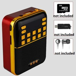 rechargeable batteries NZ - A108 LED Scream Mini Radio USB Disk TF Card MP3 Music Player Portable Mini Fm radio Transmitter with Rechargeable 18650 Battery