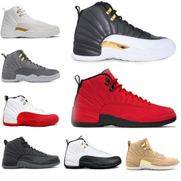 Free cow games online shopping - 12s zapatos man Basketball Shoes for men white UNC TAXI Flu Game Playoffs master MEN Sports sneakers trainer discount