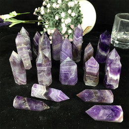 quartz crystal point beads Canada - wholesale 1000g hot sell New quartz crystal point natural dream amethyst crystal point reiki healing crystal point Cure chakra stone