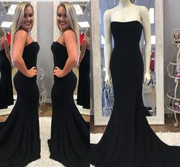 Designs Dress online shopping - Newest Design Black Long Mermaid Prom Dresses Sweetheart Neck Sleeveless Split Sweep Train Zipper Back Formal Evening Dresses