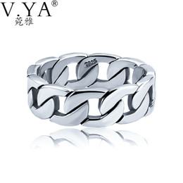 $enCountryForm.capitalKeyWord Australia - V.YA 100% 925 Sterling Silver Ring Punk Ring Cycle Chain Finger Rings for Men Fine Jewelry Big Size Couple Ring Men Jewelry Y1891908