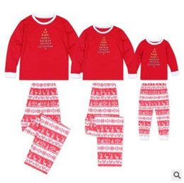 7a83095fb50 Christmas Pajamas Set 2pcs Family Matching Outfits Baby Red Green Sleepwear  Mother and Daughter Father Son Matching Clothes Xmas Homewear