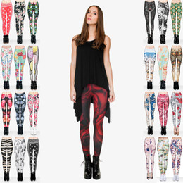 Discount mid hair lengths - Lady Leggings Mix 32 Styles Flower Bird Muffin Vintage Rose Daisy Muha Telephone Diamond Hair Zebra Fur Feather Snake 3D