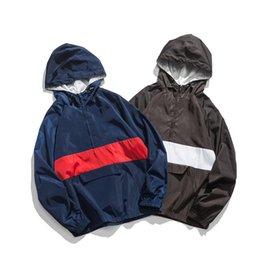 Хорошее Качество Два Цвета мужские Ветрозащитные Открытый Куртки Оригинальный Дизайн Досуг Пальто Для Молодых Людей One Piece Per Opp Сумка Для Продажи
