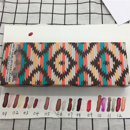 $enCountryForm.capitalKeyWord NZ - M Makeup Vibe Tribe Matte Liquid Lipstick Lip Gloss + Liquid Eyeshadow Limited Edition Set Lipgloss Kit 12 colors