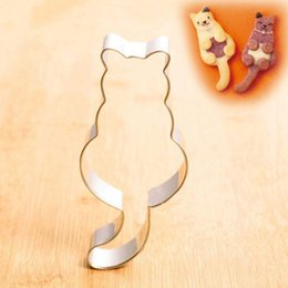 Pastry Cutters Australia - Cat shaped Aluminium Baking mold Cookie cutter cake mould Pastry Tools 7.5*3.3*1.7cm Bakeware
