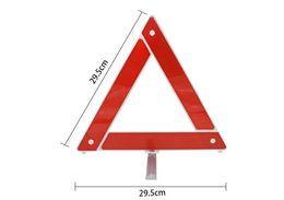 venda por atacado Sinais de alerta triangulares para veículos, ferramentas de emergência de segurança rodoviária dobrável, tripé refletor