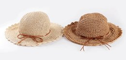 Chinese  New Arrival Children's Hat Kids Sun Hat Summer Lovely Fashion Straw Hat Beach Cap for Children manufacturers