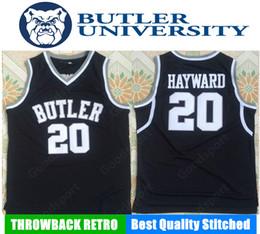 Cheap throwbaCk sports jerseys online shopping - HOT butler university NCAA Stitched Gordon Hayward Stitched embroidery Swingman jerseys Jersey SHIRTS cheap sport basketball
