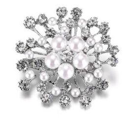 Estados Unidos Cute girl diamond big snow Broche broches rhinestone Accesorios de ropa Pines Party Prom Women pin Envío gratis 46