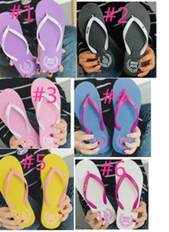 199e6481d Wholesale Flip Flops Canada - Special SALES Candy colors Womens Beach  Summer Slippers Flip Flops Couple