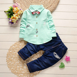 Style for Shirt pant online shopping - Children Clothing Autumn Toddler Boy Clothes Shirt Tops Pant Outfit Kids Clothes Suit For Boys Clothing Set Year