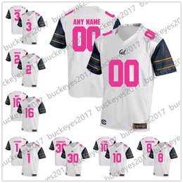 a5bf1fac7 Custom California Golden Bears 2018 Mother Days Pink Jerseys NCAA College  White Stitched Cal Any Name Any Number Rodgers Lynch Goff