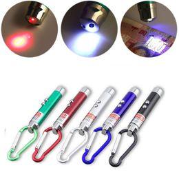 Flashlight Pens Wholesale Australia - Etmakit 3 In 1 Red Laser Pointer Pen Flashlight Counterfeit Money Detector Climbing Hook