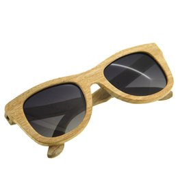 SunglaSSeS man polariSed online shopping - BEDATE G009A Polarised Wooden Sunglasses Wood Frame Sunglasses with UV Blocking Polarized Lens Multicolor