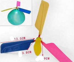 Wholesale Toys Helicopter NZ - 2018 hot 180pcs lot flying Balloon Helicopter DIY balloon airplane Toy children Toy self-combined Balloon Helicopter