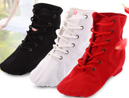 child ballet shoes Australia - Fashion kids ankler jazz dance shoes girls lace-up ballet danceing shoes children soft breathable canvas gym fitness practise shoes F2345