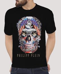 Vente en gros Imprimé 1Philipp 1Plein Crâne Graphique 100% Coton Unoficial T-Shirt Coton T-shirt De Mode Livraison Gratuite O-Cou Élégant