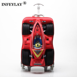 "$enCountryForm.capitalKeyWord Canada - HOT 16"" cars 3D extrusion EVA trolley case boy kids cool Climb stairs luggage suitcase Travel cartoon Boarding box child gift"