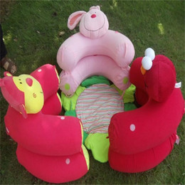 Discount inflatable cartoon toys - Blue Blossom Farm Sit Cosy Baby Play Mat Multi Function Monkey Rabbit Nest Infant Seat Carpets Inflatable Sofa Kid Toy 2