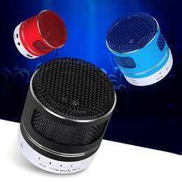 Subwoofer Player Australia - Mini A9D portable wireless Bluetooth Speaker With Microphone colorful led speaker Support FM Radio TF Card U desk Subwoofer Music Player