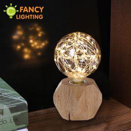 $enCountryForm.capitalKeyWord NZ - G95 E27 String Light Bulb & Modern Wood Table Lamp 110V 220V led Bedside Desk lamp Decorative bulb for Home Living Room Decor