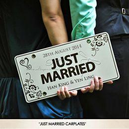 car backdrops 2019 - Free Shipping Personalized Car Plate Wedding Car Decoration Wedding Supplies Wedding Backdrops Event &Party Supplies che
