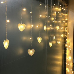$enCountryForm.capitalKeyWord NZ - 10mx0.3-0.5m 320LED Hearts Shape LED String Curtain Light For Christmas Wedding Party Decoration Chandelier Luminarias 220V 110V EU US UK AU
