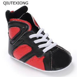 Discount high tops sneakers for girls - Baby Boots Red Black Sport Shoes For Baby Boy High Top Toddler Sneakers Girl Shoes Moccasins Kids Casual 0-18M